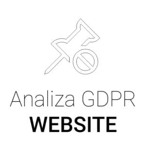 Analiza GDPR Website